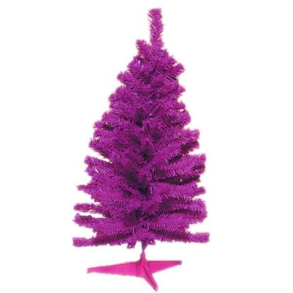 Χριστουγεννιάτικο Επιτραπέζιο Δέντρο Μωβ (80cm)