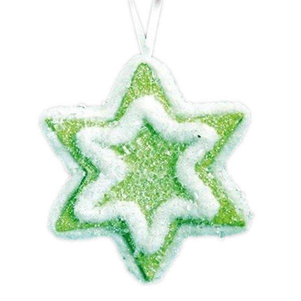 Χριστουγεννιάτικο Ζαχαρωτό Αστεράκι, Πράσινο (9cm)