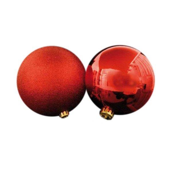 Χριστουγεννιάτικες Μπάλες Κόκκινες Οροφής - Σετ 2 τεμ. (15cm)