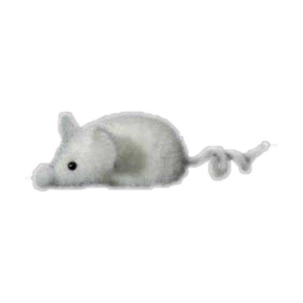 Χριστουγεννιάτικο Κρεμαστό Λευκό Ποντικάκι, Οικολογικό (10cm)