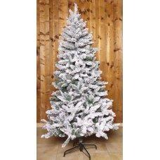 Χριστουγεννιάτικο Δέντρο Flocked Pine, Χιονισμένο (1,50m)