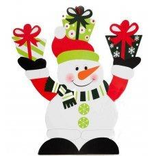 Χριστουγεννιάτικος Διακοσμητικός Παιδικός Κρεμαστός Χιονάνθρωπος (38cm)
