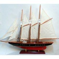 """Χριστουγεννιάτικο Διακοσμητικό Ξύλινο Καράβι, """"Atlantic"""" (60cm)"""