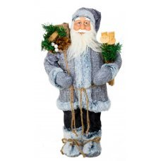 68e1f1220c79 Χριστουγεννιάτικος Διακοσμητικός Άγιος Βασίλης με Σάκο και Σκι (45cm)