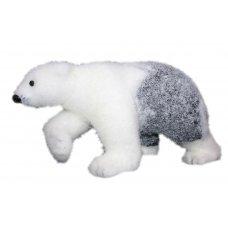 Χριστουγεννιάτικη Διακοσμητική Αρκούδα, Λευκή με Γκρι (25cm)