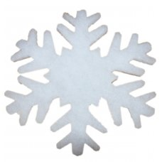 Χριστουγεννιάτικη Χιονονιφάδα Οροφής - Βιτρίνας, από Συνθετικό Βαμβάκι (75cm)