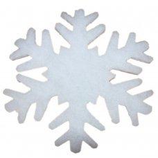 Χριστουγεννιάτικες Χιονονιφάδες Οροφής - Βιτρίνας, από Συνθετικό Βαμβάκι - Σετ 2 τεμ. (30cm)