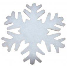 Χριστουγεννιάτικες Χιονονιφάδες Οροφής - Βιτρίνας, από Συνθετικό Βαμβάκι - Σετ 2 τεμ. (40cm)