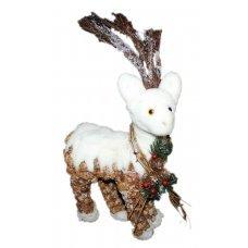 Χριστουγεννιάτικο Διακοσμητικό Ελαφάκι, με Κουκουνάρια (55cm)
