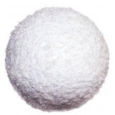 Χριστουγεννιάτικη Μπάλα Οροφής Λευκή, Ανάγλυφη (12cm)