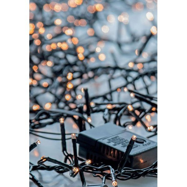 1152 Gold Θερμά Φωτάκια LED Φοίνικας EUROLAMP, με 8 Προγράμματα (10m)
