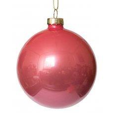Χριστουγεννιάτικη Γυάλινη Μπάλα Ροζ (8cm)