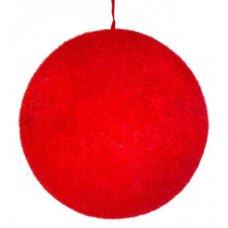 Χριστουγεννιάτικη Μπάλα Κόκκινη Οροφής (18cm)