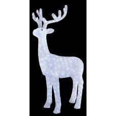 Χριστουγεννιάτικο Φωτιζόμενο Ακρυλικό Ελάφι 3D, με 380 LED (1,3m)
