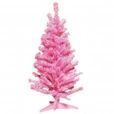 Χριστουγεννιάτικο Επιτραπέζιο Δέντρο Ροζ (80cm)