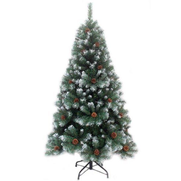 Χριστουγεννιάτικο Δέντρο Χιονισμένο, με Κουκουνάρια (1,50m)