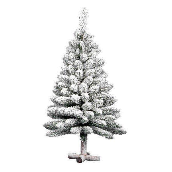Χριστουγεννιάτικο Επιτραπέζιο Δέντρο Flock Table με Ξύλινη Βάση (90cm)