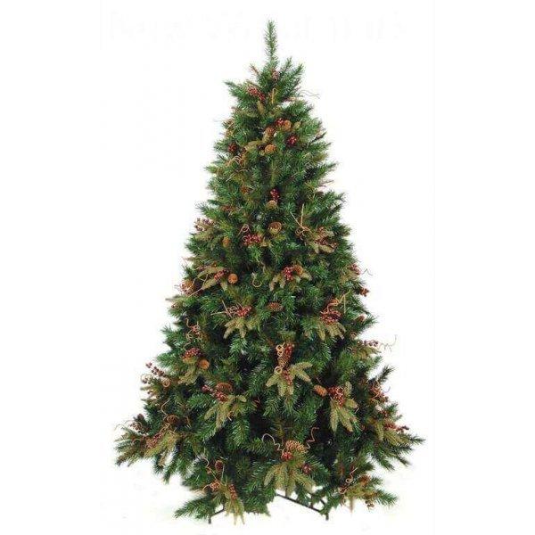 Χριστουγεννιάτικο Δέντρο CHT με Γκι και Κουκουνάρια (3m)