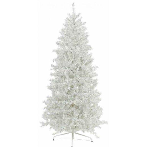 Χριστουγεννιάτικο Δέντρο Λευκό Ιριζέ Slim (1,80m)