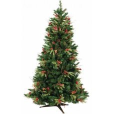 Χριστουγεννιάτικο Δέντρο NCHT με Βατόμουρα και Κουκουνάρια (2,10m)
