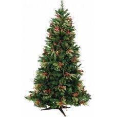 Χριστουγεννιάτικο Δέντρο με Βατόμουρα και Κουκουνάρια (2,40m)
