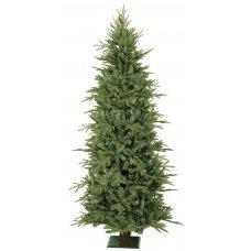 Χριστουγεννιάτικο Δέντρο Slim με Ξύλινο Κορμό (2,25m)