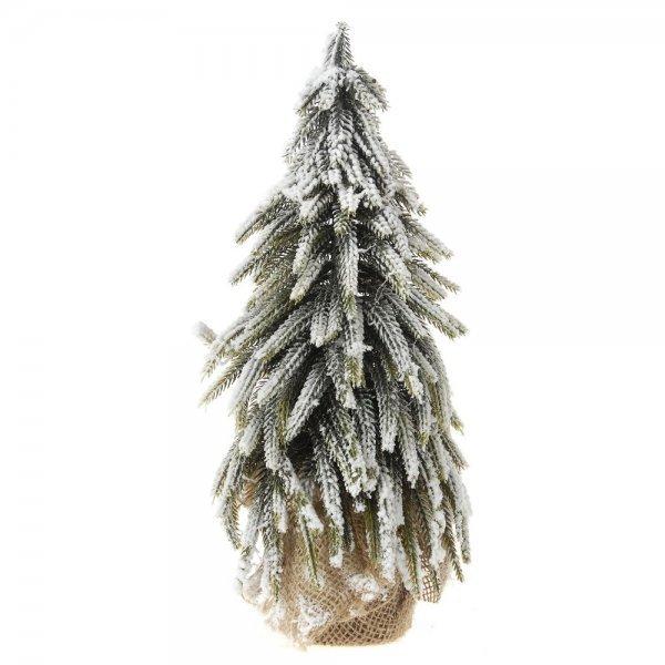 Χριστουγεννιάτικο Επιτραπέζιο Δέντρο Χιονισμένο με Σακί (35cm)