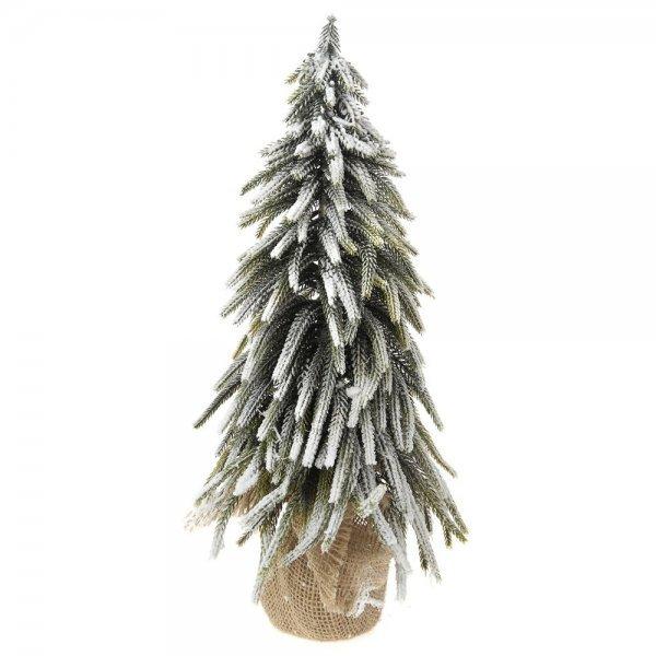 Χριστουγεννιάτικο Επιτραπέζιο Δέντρο Χιονισμένο με Σακί (45cm)