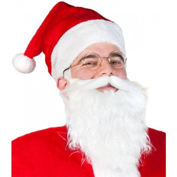 Χριστουγεννιάτικο Σετ Άγιου Βασίλη, με Γυαλιά και Γενειάδα - 2 τεμ.