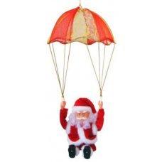 Χριστουγεννιάτικος Άγιος Βασίλης με Αλεξίπτωτο, με Ήχο και Κίνηση (18cm)