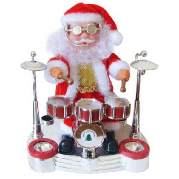 Άγιος Βασίλης που Παίζει Ντραμς