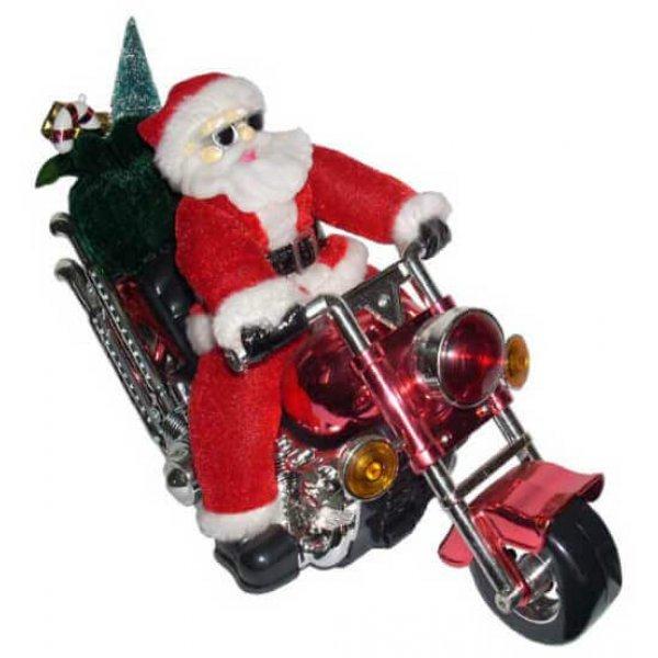 Άγιος Βασίλης σε Μοτοσυκλέτα