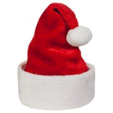 Χριστουγεννιάτικος Σκούφος Άγιου Βασίλη, Παιδικός (33cm)