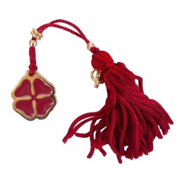 Χριστουγεννιάτικο Γούρι, Κόκκινο με Μεταλλικό Τετράφυλλο Τριφύλλι