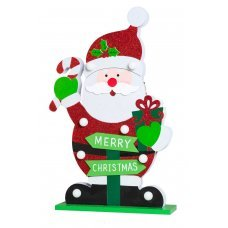 Χριστουγεννιάτικος Διακοσμητικός Άγιος Βασίλης, με 8 LED Μπαταρίας (48cm)