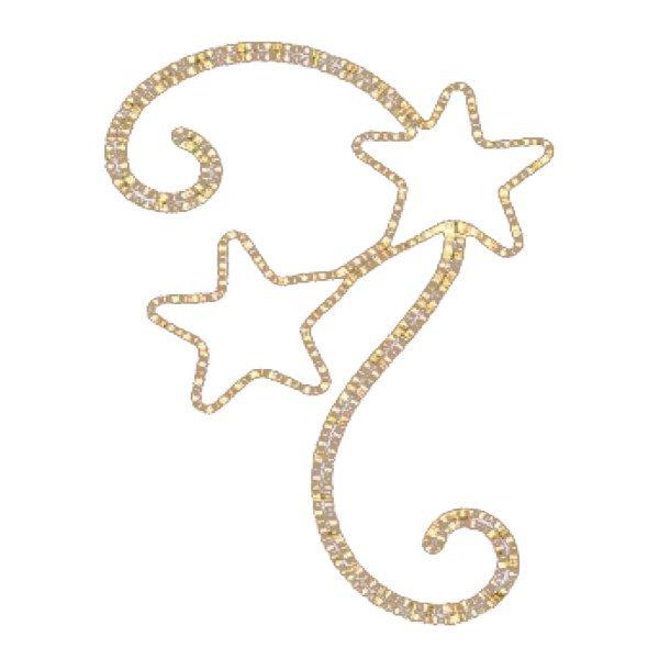 Χριστουγεννιάτικα Επιστύλια Αστέρια με Φωτοσωλήνα (1m)