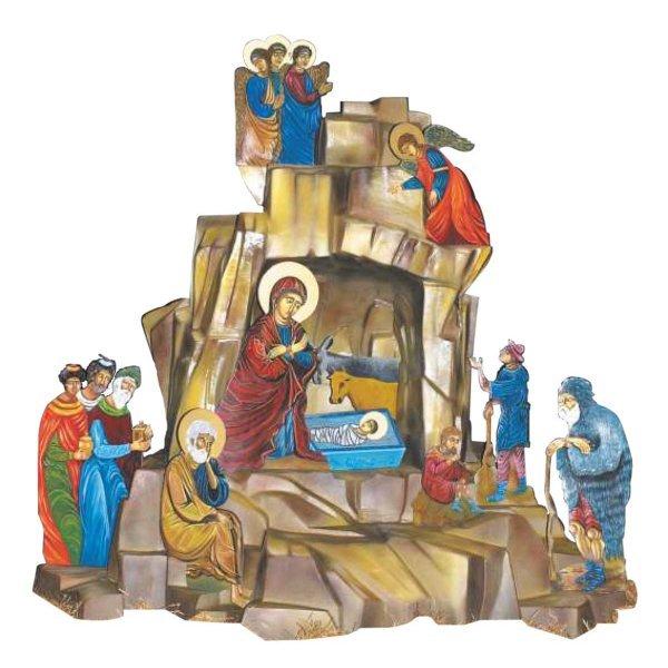 Χριστουγεννιάτικη Φάτνη με Αγιογραφίες  (4m)