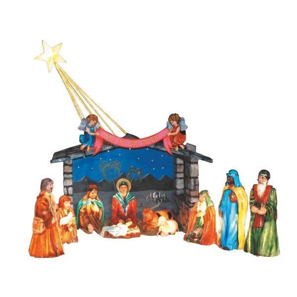 Χριστουγεννιάτικη Φάτνη με Φιγούρες και Αστέρι (4m)