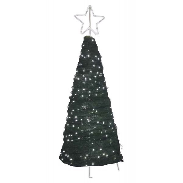 Xριστουγεννιάτικο Δέντρο Πλατείας από Μοκέτα με LED (2.7m)