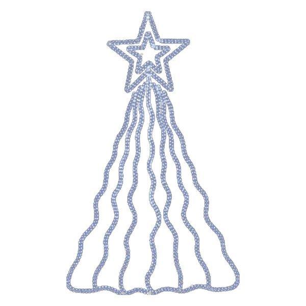 Χριστουγεννιάτικo Επιστύλιo Αστέρι με Ουρές και Φωτοσωλήνα LED (2.5m)