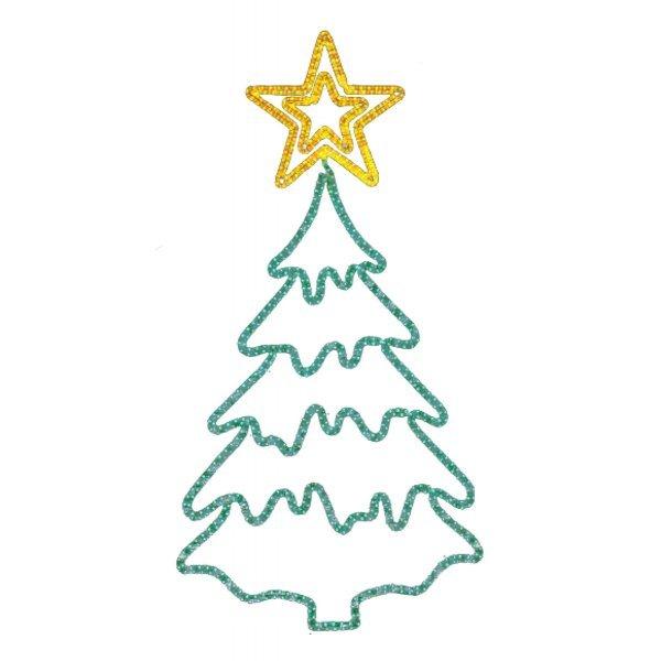 Χριστουγεννιάτικo Επιστύλιo Δέντρο με Φωτοσωλήνα LED (2.1m)