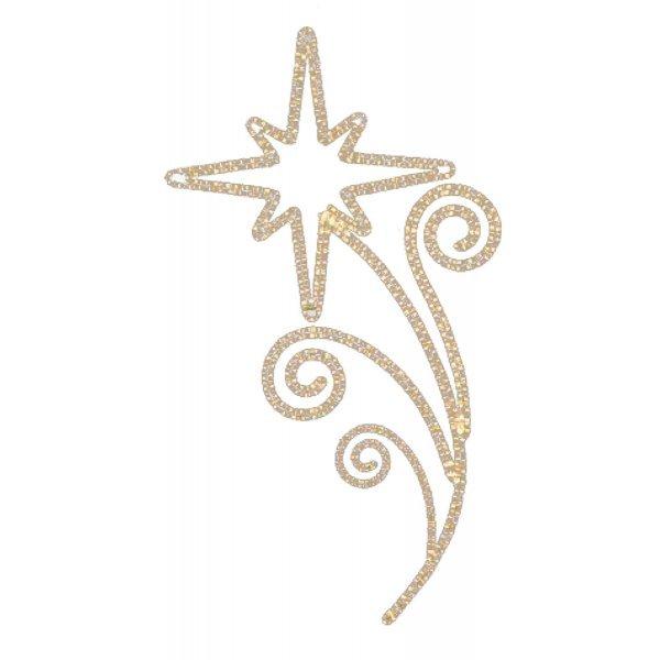 Χριστουγεννιάτικo Επιστύλιo Λουλούδι με Φωτοσωλήνα (1.75cm)
