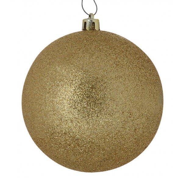Χριστουγεννιάτικη Μπάλα Οροφής, Χρυσή με Στρας (20cm)