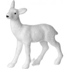 Χριστουγεννιάτικο Διακοσμητικό Ελάφι, Λευκό (24cm)