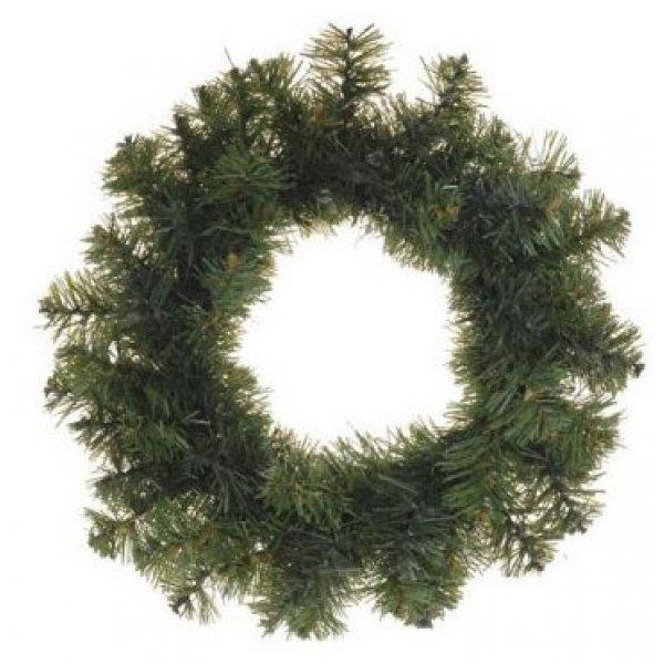 Χριστουγεννιάτικο Διακοσμητικό Στεφάνι, Πράσινο (50cm)