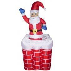 Χριστουγεννιάτικος Φουσκωτός Άγιος Βασίλης που Ανεβοκατεβαίνει σε Καμινάδα (1,8m)