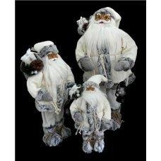Χριστουγεννιάτικος Διακοσμητικός Άγιος Βασίλης, Λευκός (30cm)