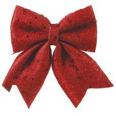 Χριστουγεννιάτικος Διακοσμητικός Φιόγκος Κόκκινος (20cm)