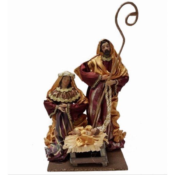 Χριστουγεννιάτικη Φάτνη Ξύλινη, με 3 Φιγούρες (30cm)
