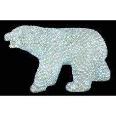 Χριστουγεννιάτικη Φωτιζόμενη Ακρυλική Αρκούδα με 1900 LED (1,2m)